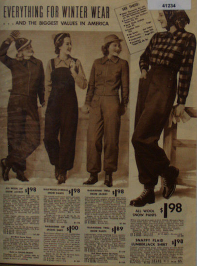 Sears Winter Wear for Women 1938 Ad in wool