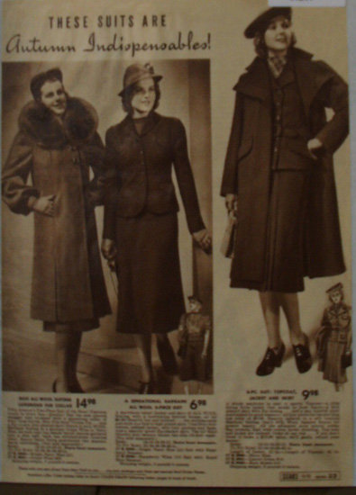 Sears Womens Suits And Coats 1938 Ad