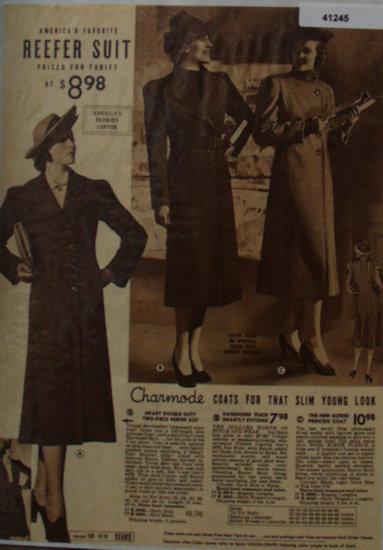 Sears Womens Charmode Coats 1938 Ad