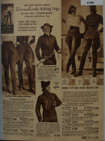 Sears Kerybrooke Riding Togs 1938 Ad