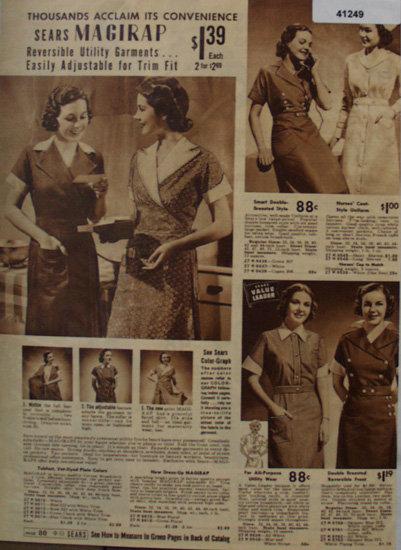Sears Magirap Womens Dresses 1938 Ad