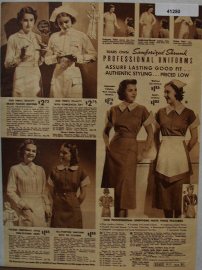 Sears Professional Uniforms 1938 Ad