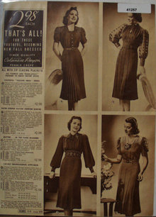 Sears Womens Celanese Rayon Dresses 1938 Ad