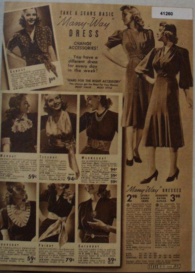 Sears Womens Many Way Dresses 1938 Ad