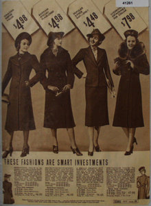 Sears Women Coats And Suit 1938 Ad