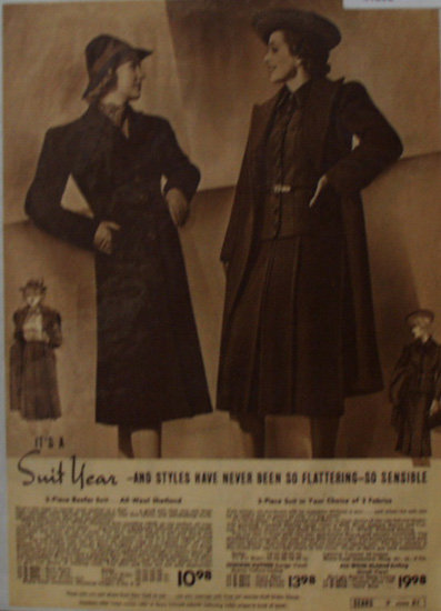 Sears Womens Suit Year 1938 Ad