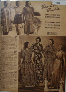 Sears Womens Beach Or Boudoir Clothes 1938 Ad
