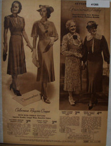 Sears Womens And Gracious Lady Dresses 1938 Ad