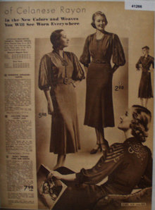 Sears Womens Dresses of Celanese Rayon 1938 Ad
