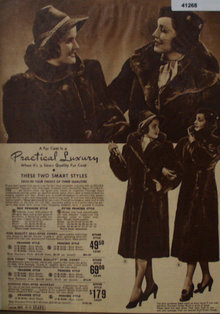 Sears Womens Fur Coats 1938 Ad