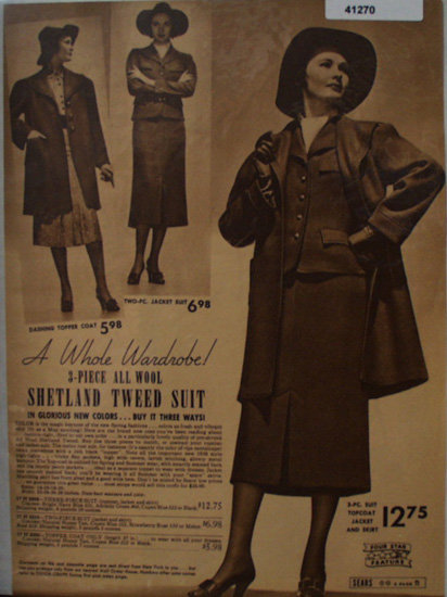 Sears Shetland Tweed Suit 1938 Ad