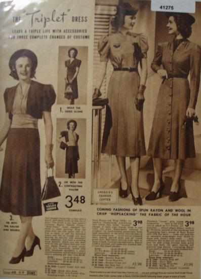 Sears Triplet Dress 1938 Ad