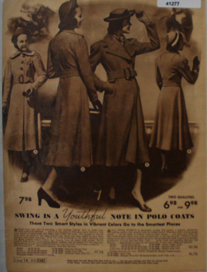 Sears Polo Coats 1938 Ad