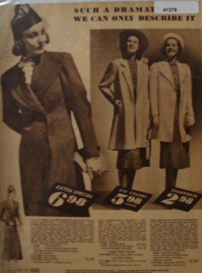 Sears Womens Coats 1938 Ad