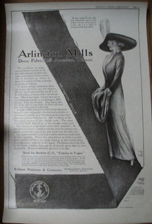 Arlington Mills Dress Fabrics 1912 Ad