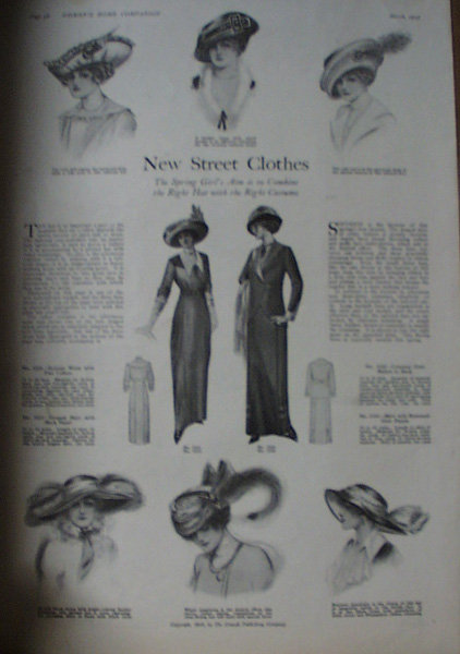 Street Clothes Patterns 1913 Ad