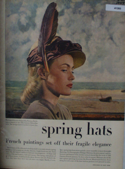 Spring Hats With Background Scenes 1947 Pictures