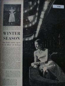 Winter Season Fashion Dresses 1947 Ad