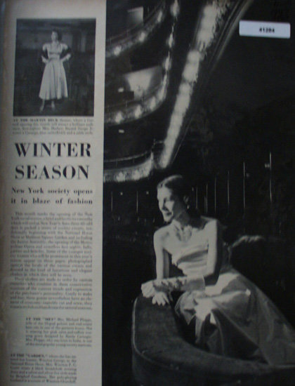 Winter Season Fashion Dresses 1947 Ad