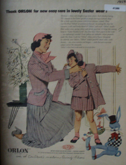 DuPont Orlon Fibers 1953 Ad
