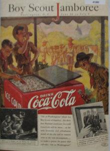 Coca Cola Boy Scout Jamboree 1937 Ad