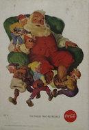 Coca Cola Santa and Elfs 1960 Ad