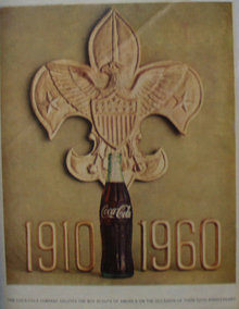 Coca Cola Boy Scout 50th Anniversary 1960 Ad