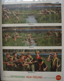 Coca Cola Boy Scout Tug Of War 1962 Ad