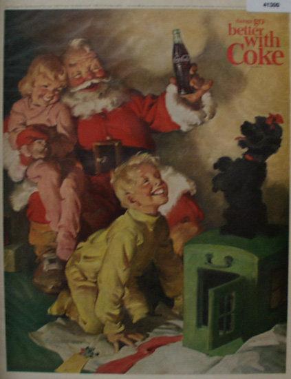 Coca Cola Christmas Scene 1964 Ad