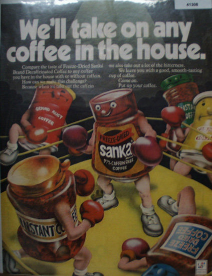 Freeze Dried Sanka Coffee 1972 Ad