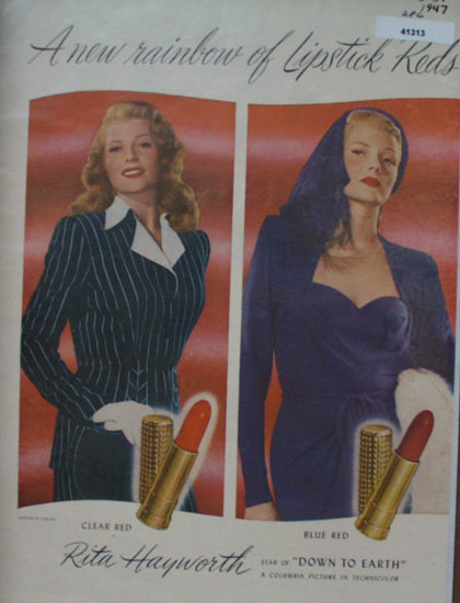 Max Factor Hollywood Lipstick 1947 Ad