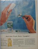 Fresh Stick Deodorant 1956 Ad