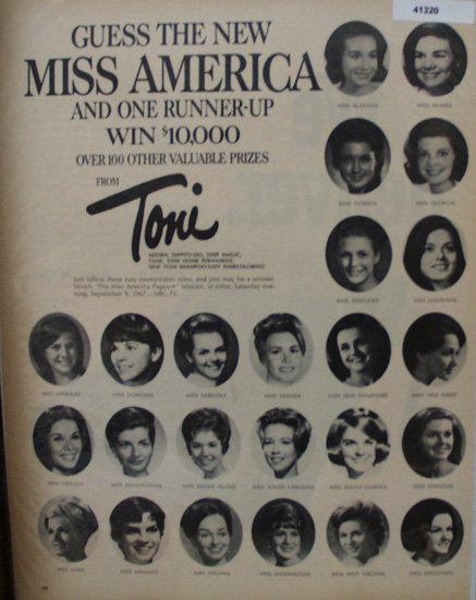 Toni Home Permanent Contest 1967 Ad