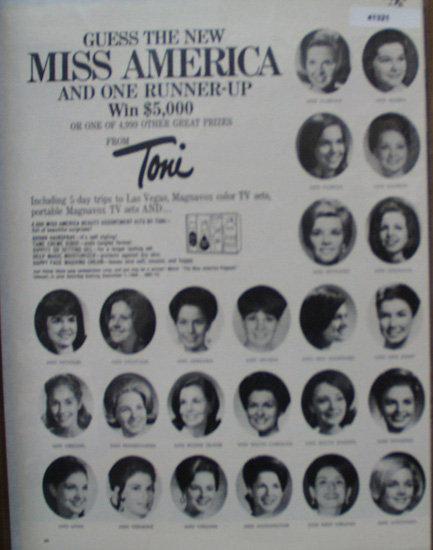 Toni  Cosmetics Sweep steaks 1968 Ad