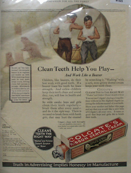 Colgate Ribbon Dental Cream 1923 Ad