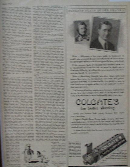 Colgate Rapid Shave Cream 1925 Ad