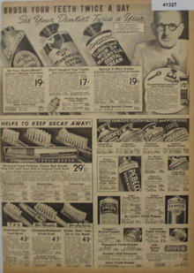 Sears Dental Hygiene Products 1938 Ad