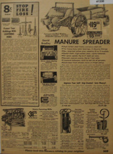 Sears Farm Related Spreader 1935 Ad