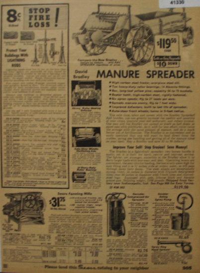 Sears Farm Related Spreader 1935 Ad