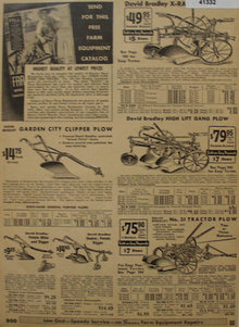 Sears Farm Related Plows 1935 Ad