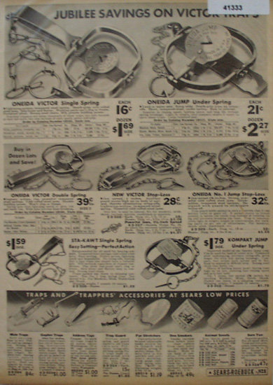 Sears Farm Related Traps 1936 Ad
