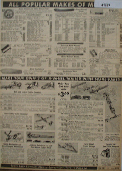 Sears Farm Related Mower Parts And Trailer Parts 1938 Ad