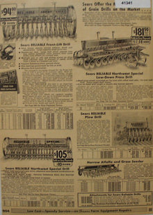 Sears Farm Related Grain Drills 1935 Ad