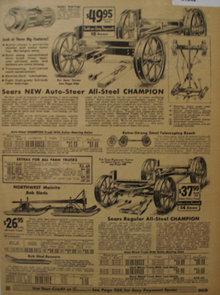 Sears Farm Related Trucks And Bob Sleds 1935 Ad