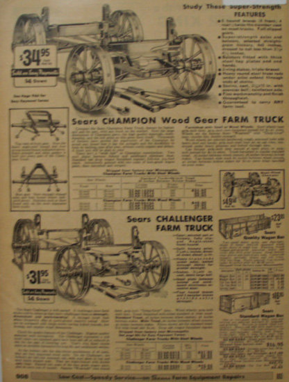 Sears Farm Related Truck And Bed 1935 Ad
