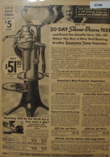 Sears Farm Related Cream Separator 1935 Ad