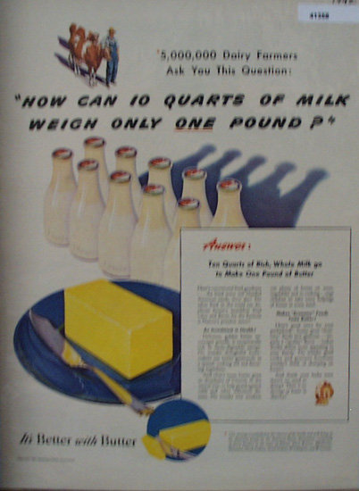 American Dairy Association 1942 Ad