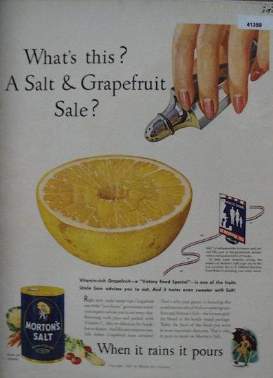 Mortons Salt 1943 Ad