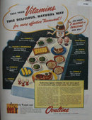 Ovaltine Vitamins 1944 Ad
