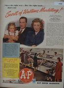 A And P Super Markets 1944 Ad